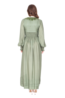 Forest Green Maxi Dress-2