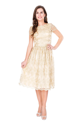 Golden Viola Dress -0