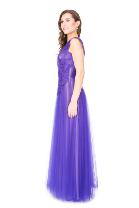 Purple Anhinga Gown-1