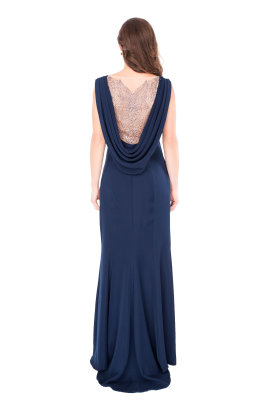 Vireo Navy Gown-2