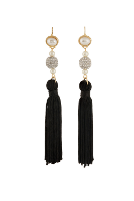 Multi-stone Tassel Earrings -0