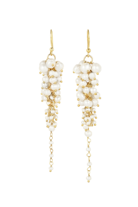Bravi Gold Pearl Earings-0