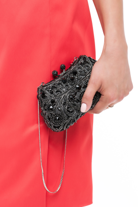 Black Crystal Glamour Clutch -1