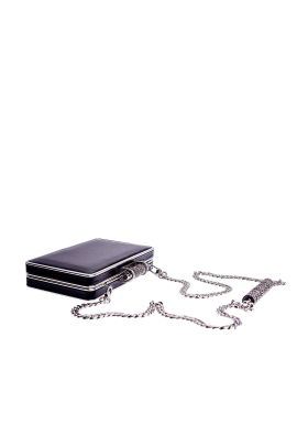 Black Leather Minaudiere-3