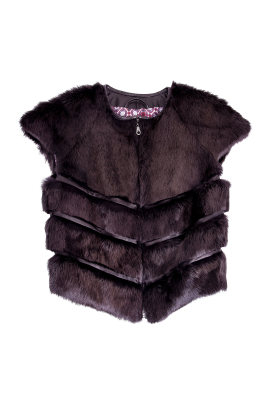 Brown Short Sleeved Fur -0