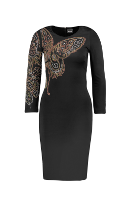 Sleaved Studded Jersey Dress -0