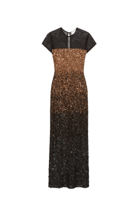 Sequined Tulle Gown-0