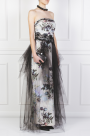 Floral Faille and Tulle Gown