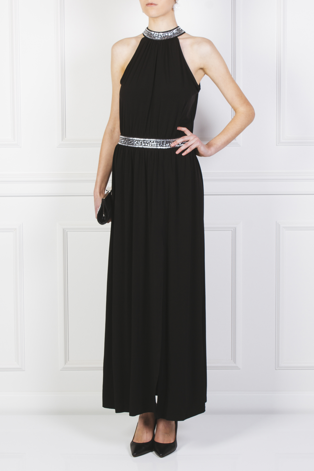 Embellished Stretch Gown