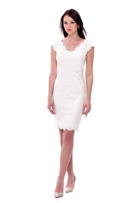 White Paillete Dress-0