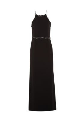 Embellished Crepe Gown-0
