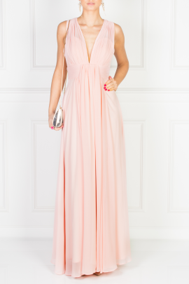 Flowing Pink Maxi Dress / VILNIUS-0