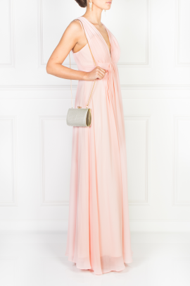 Flowing Pink Maxi Dress-1