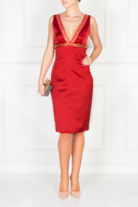 Scarlett Satin Dress-0