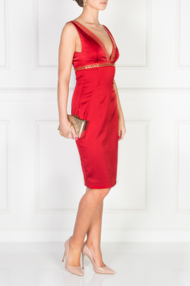 Scarlett Satin Dress-2