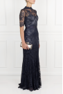 * Silk-trimmed Lace Gown