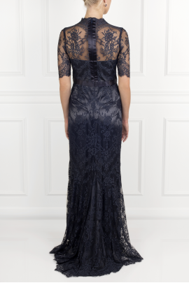 * Silk-trimmed Lace Gown -3