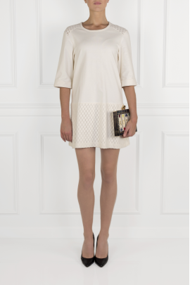 Cream Cotton Jersey Dress-1