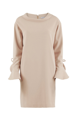 Nude Moss Crepe Dress-0