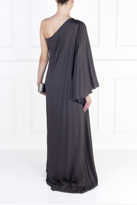 One-shoulder Crepe Gown-3