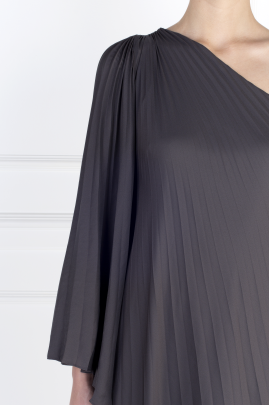 One-shoulder Crepe Gown-4