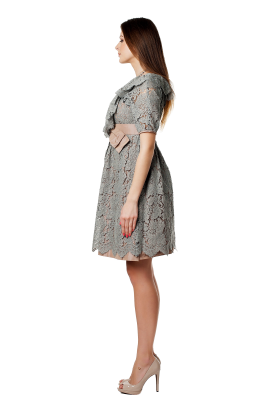 Grey Lace Dress-1