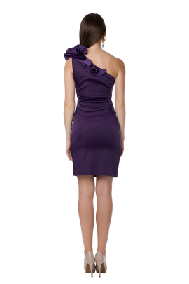 Deep Purple Asimetric Dress -2