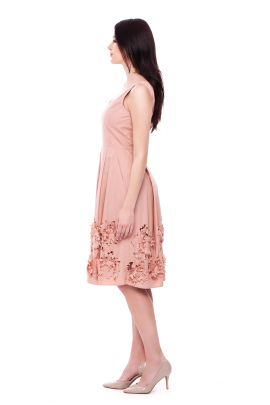 Flower Cutting Midi Dress -1