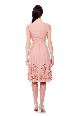 Flower Cutting Midi Dress -2
