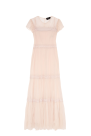 Cream Crinkled-chiffon Gown