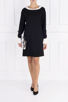 Black Moss Crepe Dress-1