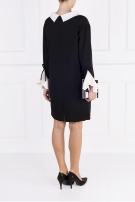 Black Moss Crepe Dress -3