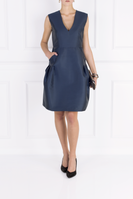 Eliza Satin-twill Dress-2