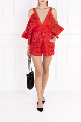 Keep Me There Red Playsuit-1