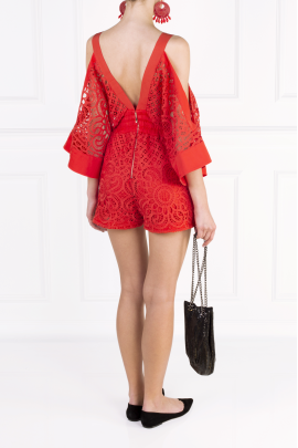 Keep Me There Red Playsuit-3