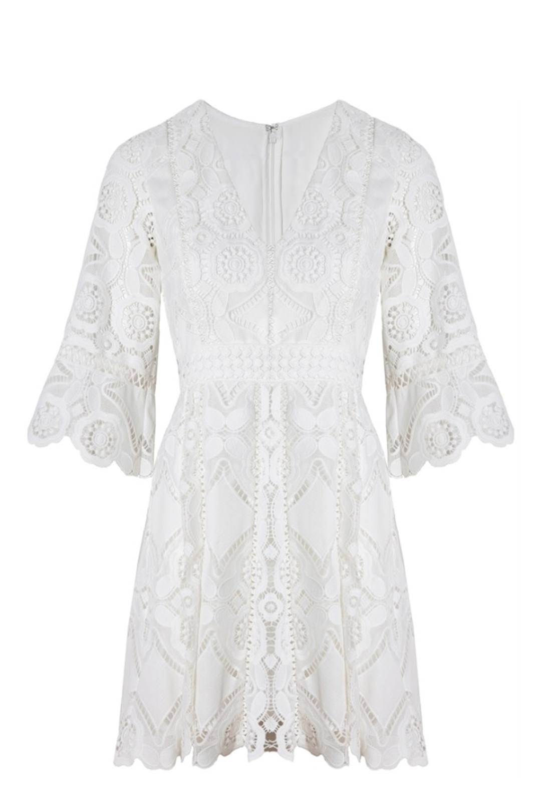 White Webb Dress