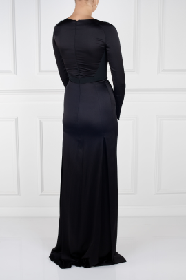 Paneled Satin Gown-3