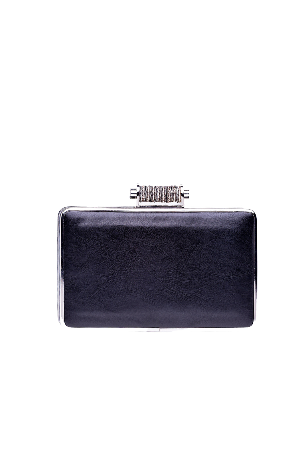 Black Leather Minaudiere