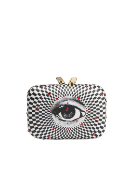 Morley Printed Satin Clutch-0